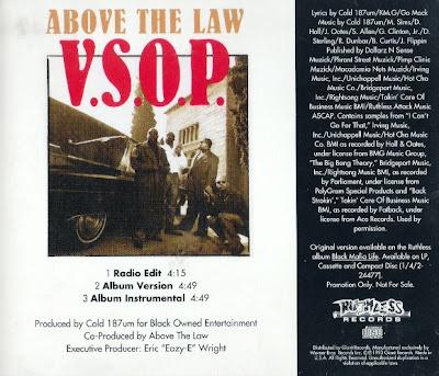 Above The Law – V.S.O.P. (CDS) (1993) (320 kbps)