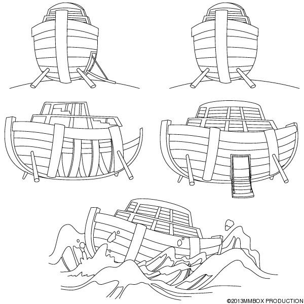 PARA COLOREAR: El Arca de Noé para colorear