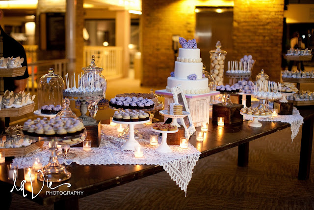 Twin Cities Rustic Dessert Table - Lilac and Lavender
