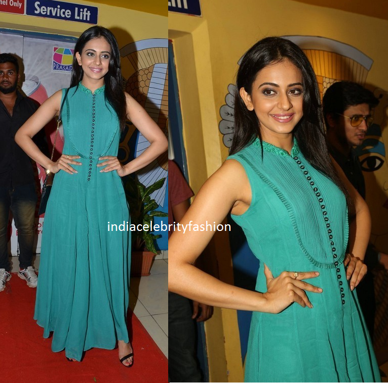 Rakul preet in Ritu Kumar Green Jumpsuit