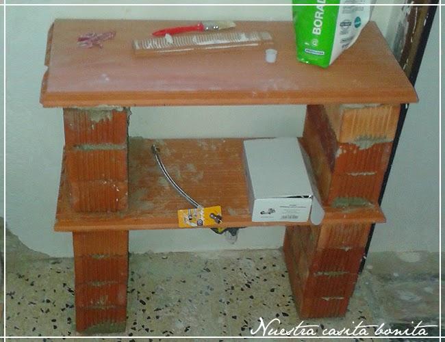 Reforma del ba o 3 el mueble del lavabo nuestra - Mueble de obra ...