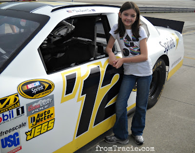 Katarina With The NASCAR Sprint Car