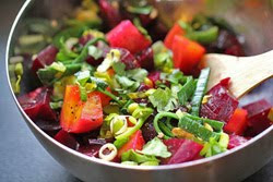 Beet Salad with Leeks and Parsley