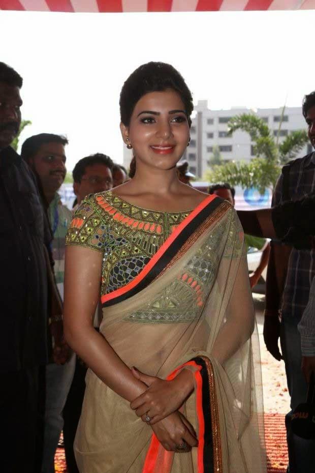Samantha in Designer Arpita Mehta Saree