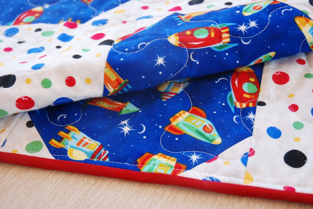 Charley dee me outer space baby boy quilt for Outer space quilt