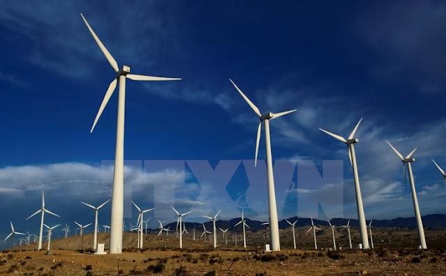 Các tuabin gió tại nhà máy phong điện ở Palm Springs, bang California. Ảnh minh họa. (Nguồn: THX/TTXVN)