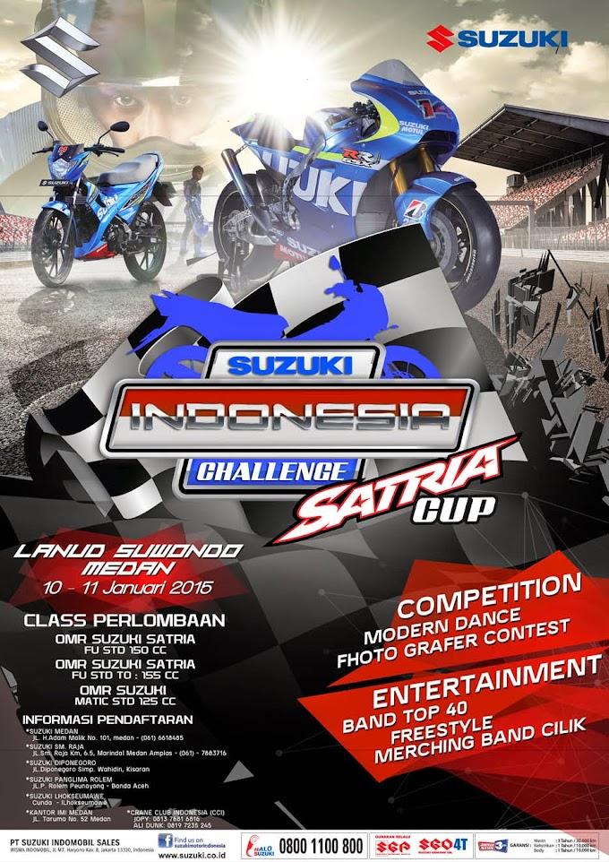 Jadwal Suzuki Indonesia Challenge-Satria Cup 2015