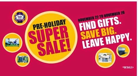 Shoppers Drug Mart Black Friday Pre-Holiday Super Sale