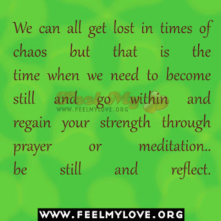 We can all get lost in times of chaos
