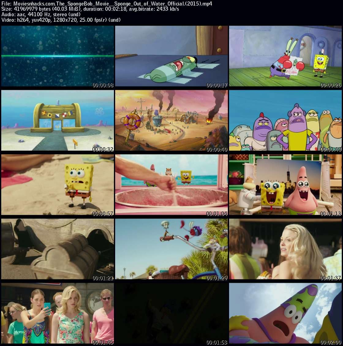 The SpongeBob Movie: Sponge Out of Water Official International Trailer (2015) - Movie HD