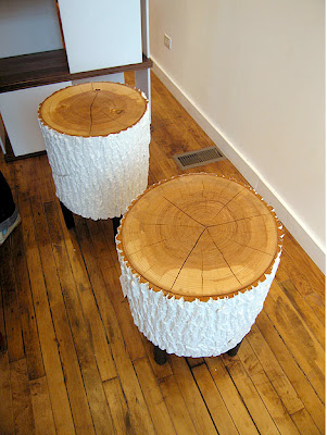 Gone thrifting tree stumps - White painted tree trunks ...