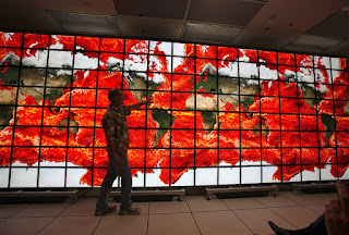 Picture of NASA's Hyperwall-2 Quarter-Gigapixel Display