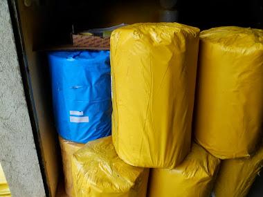 Lona amarela e Azul 4x100x55kg
