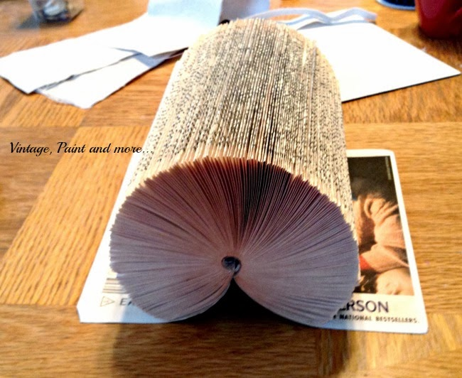 Book Page Note Holder - image of side view of folded book