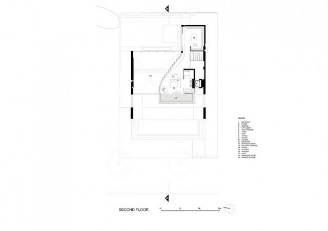 Second floor floor plan of an amazing modern home