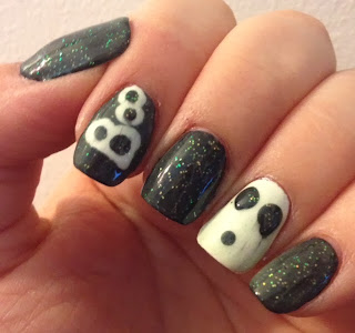 Halloween Ghost Glow In The Dark Nails