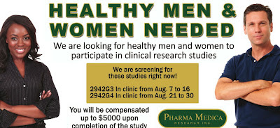 Healthy Men and Women Needed