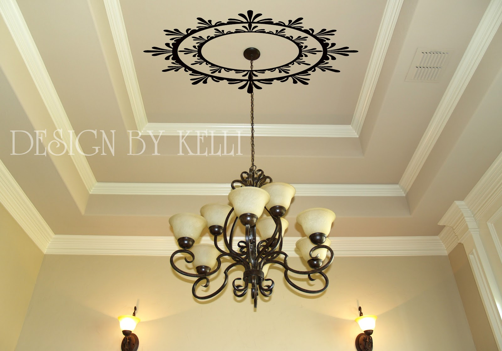 Diy Mirrored Ceiling Medallion By Bella Tucker Decorative Finishes ...