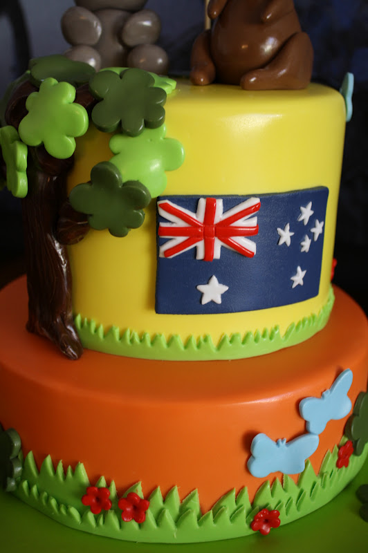 Sandy S Cakes An Aussie Birthday Cake For An English