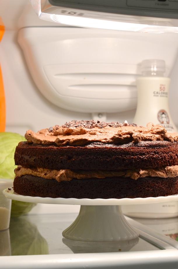 Dark Chocolate Layer Cake With Espresso Buttercream