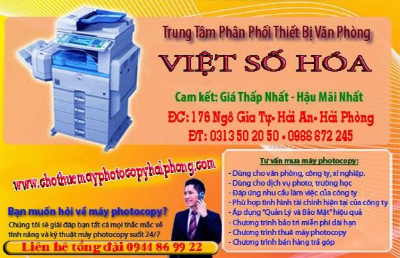 Cho thue may photocopy hai phong gia re