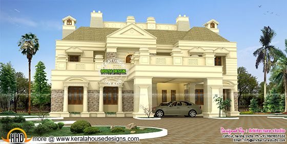 Luxurious colonial house
