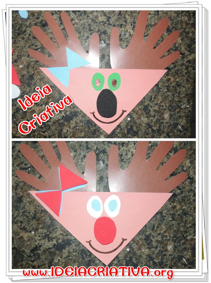 Rena de Forma Geométrica Triângulo Atividade Natal Educação Infantil