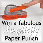 Simplicity Geared Punch Giveaway from Tonic Studios Ltd