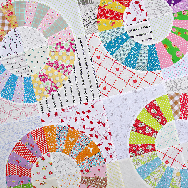 Color Wheel Block Quilt II - A Variation | Red Pepper Quilts 2015