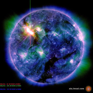 Image of the Sun taken by NASA spacecraft SDO