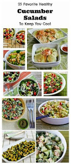25 Favorite Healthy Cucumber Salads to Keep You Cool [from KalynsKitchen.com]