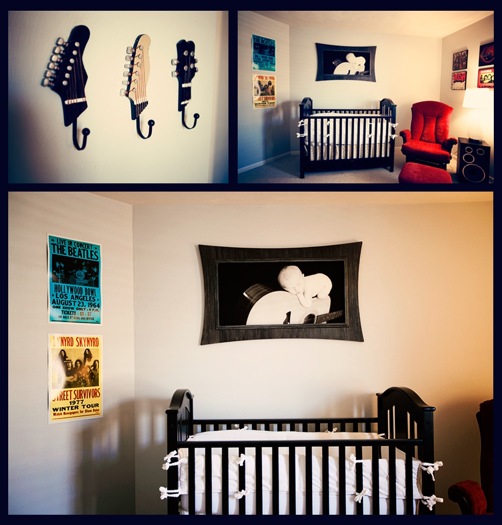 Nursery rock 39 n 39 roll theme life baby baby showers for Rock n roll baby crib set