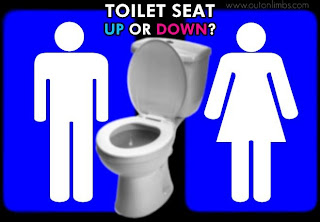 Women argue men leave the toilet seat up
