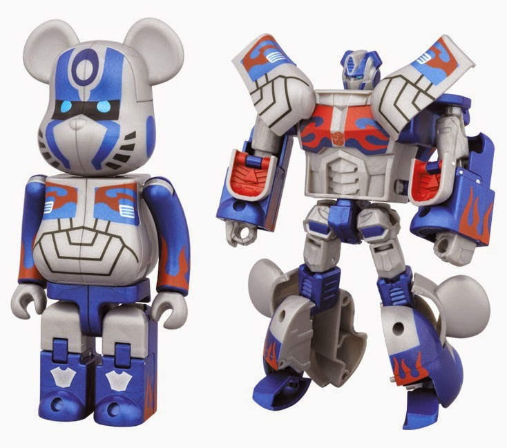 Optimus Prime Transformers: Age of Extinction 400% Transforming Be@rbrick by Medicom