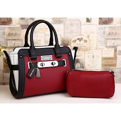 AAA WITH JESSICA MINKOFF LOGO - RED