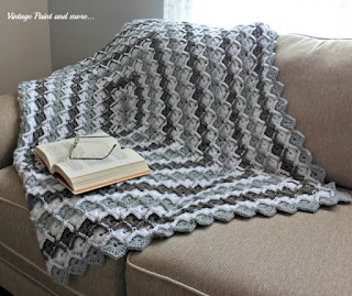 crochet grey diamond afghan