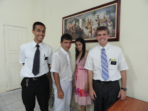 Ben with Elder Silva and Janaina