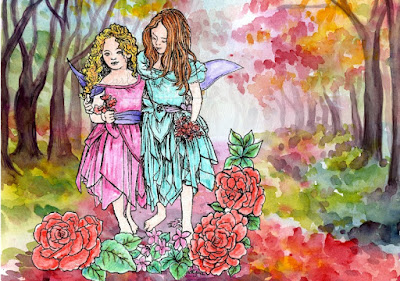 Morgan Fitzsimmon Fairy Wishes - Sky and Scarlet