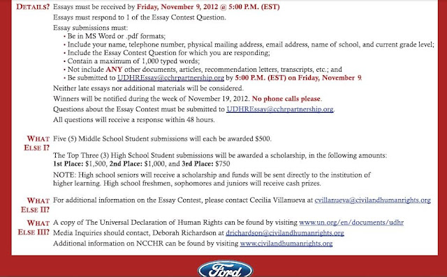 mn human rights essay contest