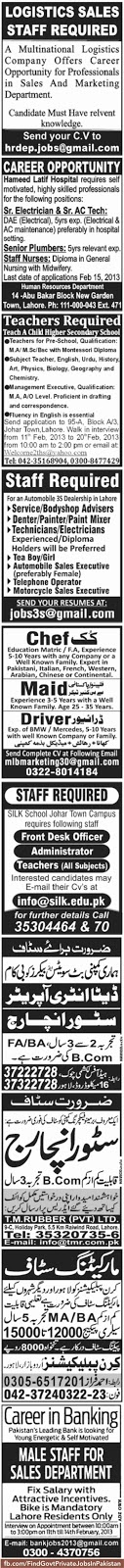 100 job ads in jang