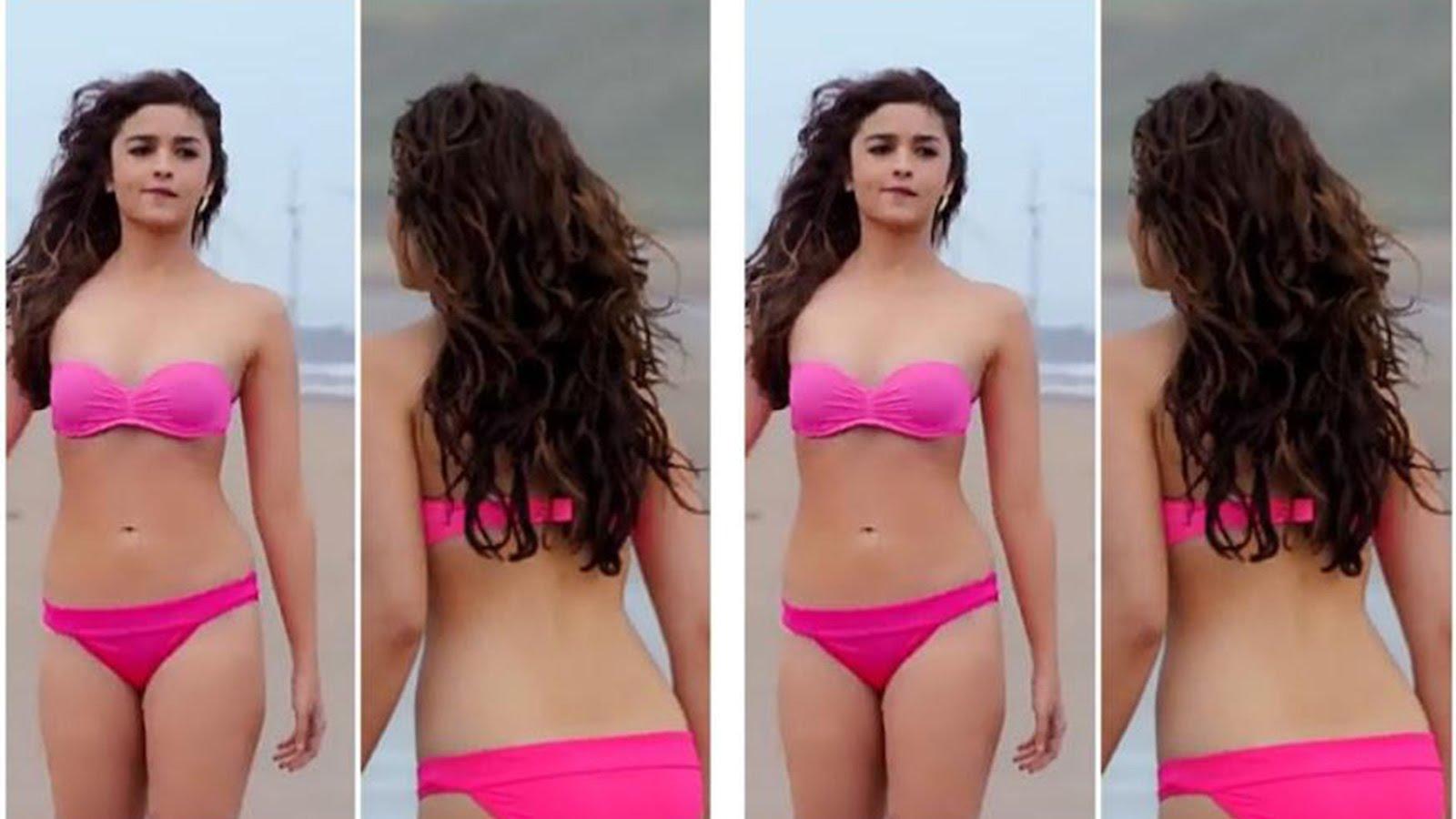 alia bhatt sizzles in pink bikini in shaandaar video - cine fires