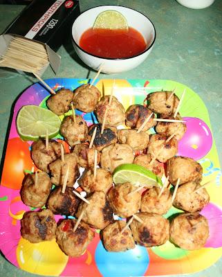 Coriander meatballs