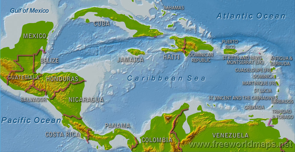 physical geog of the caribbean Geographic presentation of the caribbean islands  geographic presentation of the caribbean islands  central america geography.