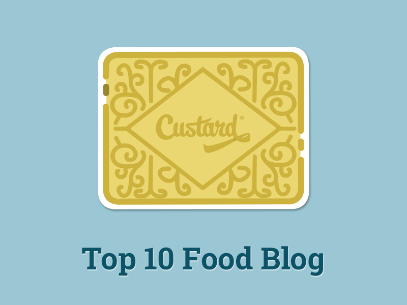 I'm ranked in the top ten food blogs in Manchester