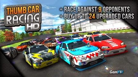 Compite en alta velocidad en la carrera de Thumb Car Racing