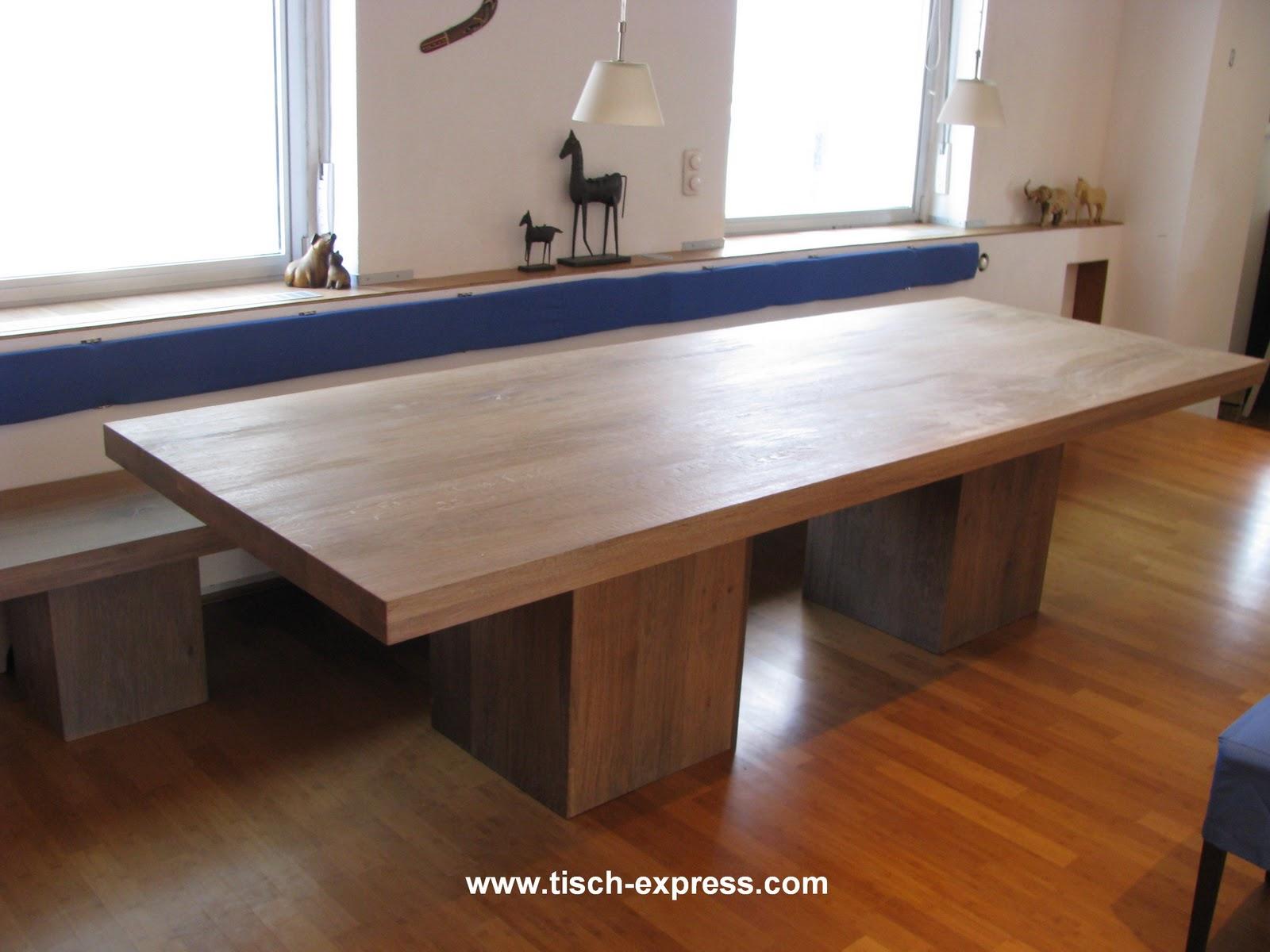 Moderne tisch eiche klostertisch for Tisch eiche