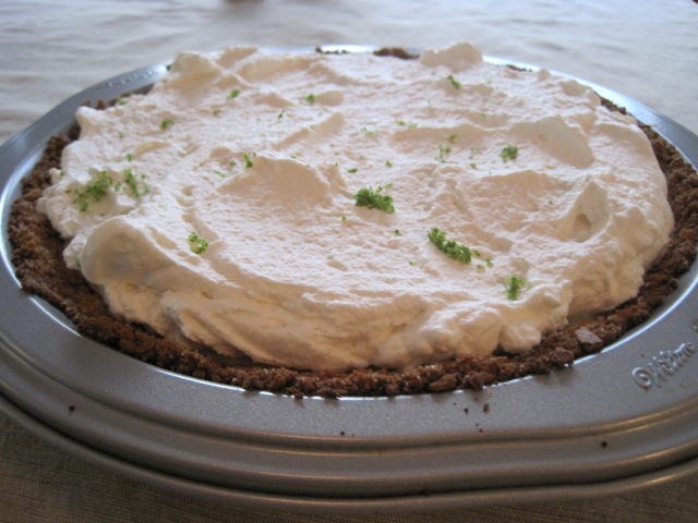 Key lime pie for Grandma Fry's 80 big ones