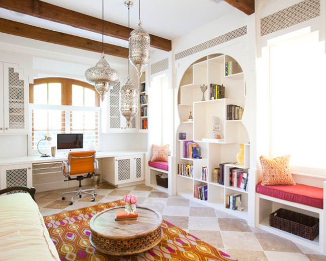 Moroccan inspired room with a modern edge