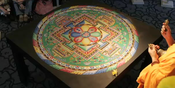 sand mandala, Emory University, Buddhist monks