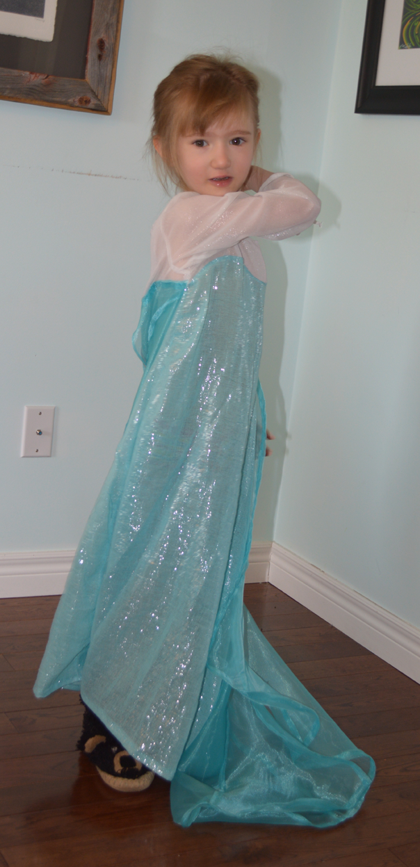 Frozen Elsa Dress sewn by Cicely Ingleside #madeforkidsmonth